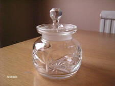 Vintage Cut Glass Sugar Basin Roughly 4 3/4 Inches High with Lid.