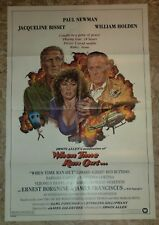 1980 WHEN TIME RAN OUT 1-SH Movie Poster FN 6.0 Paul Newman, Jacqueline Bisset