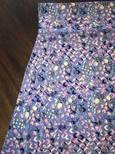 NWT LuLaRoe LLR 2XL Slinky Blue Pink Ivory Azure A-Line Twirl Skirt