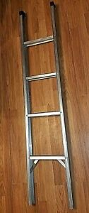 """HEAVY-DUTY 60"""" X 12"""" ALUMINUM BUNK-BED LADDERS, REINFORCED, SANITIZED, PRE-OWNED"""