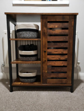 Industrial Side Cabinet Vintage Storage Sideboard Rustic Cupboard Display Unit