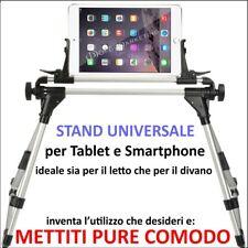 SUPPORTO STAND DA LETTO DIVANO TAVOLA UNIVERSALE REGOLABILE TABLET E SMARTPHONE