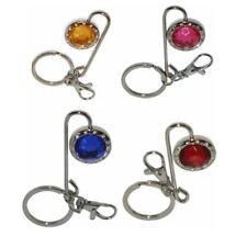 WHOLESALE JOB LOT Crystal Diamante Handbag Hook & Key Ring x 24