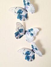 Teal Butterflies Poppy Flower Butterfly Wedding Home Accessories 4 Hand Made