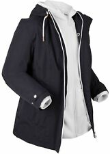 Funktions-3 in 1 Jacke m Kapuze Gr. 42 Schwarz Weiß Damen Mantel Winterjacke Neu
