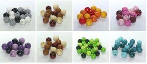 Holzperlen Mix 8 , 10 , 12 mm verschiedene Größen und Farben speichelfest Neu