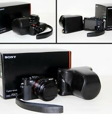 Black leather case bag for Sony Cyber-shot DSC-RX1RM2 camera or RX1R II, RX1R/B