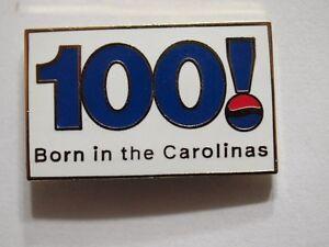 Pepsi Pin 100th Anniversary Lapel Pin N. Carolina Dated 1998