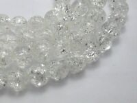 100 pcs Round White Crackle Glass Beads 8mm Jewelry Finding