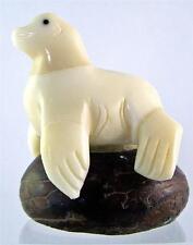 Seal Sea Lion Hand-carved Miniature Sculpture Figurine Tagua Nut Fair Trade