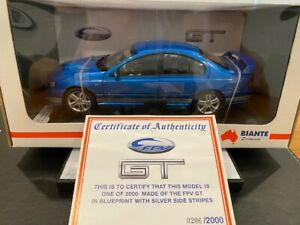 1:18 Biante Ford FPV BA GT Falcon in Blueprint with Silver Side Stripes