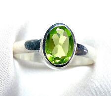 Peridot Olivin Ring 925 Sterling Silber fac. Edelstein filigran Gr. 50 - 71 neu