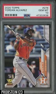 2020 Topps #276 Yordan Alvarez Houston Astros RC Rookie PSA 10 GEM MINT
