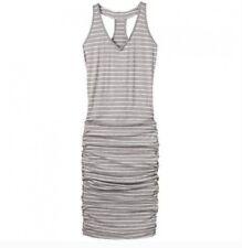 e51f66579dcbe Athleta Gray   White Stripe Ruched Racerback Tank Dress Size XS