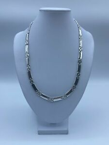"""18ct White Gold Fancy Chain Necklace For Women - 20"""", 6mm, 28.5g"""