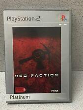 JEUX PS2 RED FACTION PLATINUM AVEC NOTICE PLAYSTATION