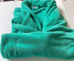 Melsimo Boys Girls Youth Kids Bath Robe Fleece Plush Green L Large 10