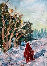 aceo+magnet oil painting original.canvas  A.Vodyanovskii  Russian.