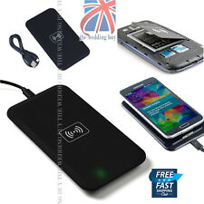 Reino Unido Qi Wireless Negro Power Pad Cargador Solo Para Samsung Galaxy S3 S4 S3 Note 3 4