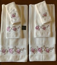 ELVIS AND ROSES RARE FIND SET OF 2 BATH HAND TOWELS EMBROIDERED