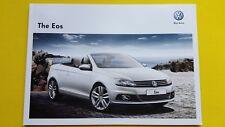 VOLKSWAGEN EOS Sport exclusive de vente brochure catalogue novembre 2012 Comme neuf VW