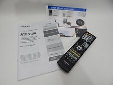 Onkyo HT-S580 Home Theater System RC-606S REMOTE CONTROL INSTRUCTION MANUAL ONLY