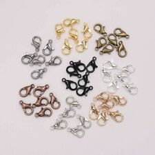 50Pcs Alloy Lobster Clasp Hooks for DIY Necklace Bracelet Chain Jewelry Making