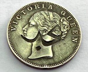 1840 East India Company Rupee Saudi Arabia  Silver Coin Countermark Najed 11.4gr