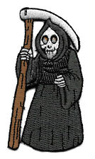 Grim Reaper - Halloween - Embroidered Iron On Applique Patch - EXCELLENT QUALITY