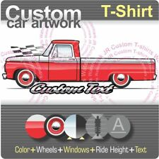 Custom T-shirt 64-66 1965 1966 F-100 Long Pickup Truck not affiliated with ford