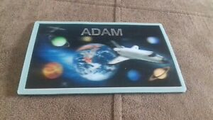 BRAND NEW - SPACE WALL OR DOOR PLAQUE - 3D - SPACE THEME - NAME - ADAM = box 88