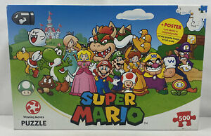 Super Mario Puzzle, 500 Piece, Winning Moves + Free Poster Inside - Complete VGC