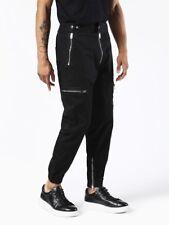 Diesel Black Biker Trousers L Zip Pockets Jeans Gold Style