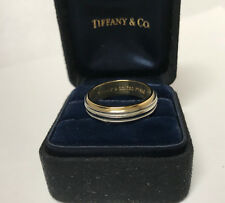 Tiffany & Co. Platinum 18k Yellow Gold Wedding Band Ring 6mm MSRP $2125 Gift
