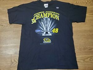 Nascar Jimmie Johnson #48 2008 Sprint Cup Champion T Shirt Tee Size Large New