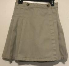Girl's French Toast Skirt Skort Adjustable  Khaki Size 10
