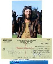 Donald Sutherland signed Bank Cheque / Check AFTAL#145