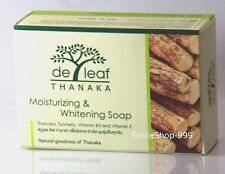THANAKA Soap DeLeaf Acne Turmeric Moisture Body Face Vitamin E Natural Whitening