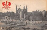 BR78549 the tower from the river heraldic  london  uk