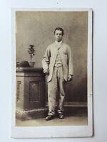 Victorian Carte De Visite CDV Photo - Unusual Gentleman - Dark Skin? Light suit