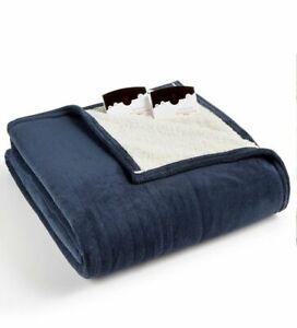 Biddeford Cozy Knit Collection Heated Microplush Sherpa Blanket (Twin)