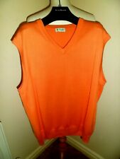 PRINGLE GOLF 100% Cotton Coral Knitted Tank Top Medium NEW