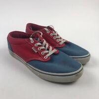 Vans Mens Old Skool Skate Shoes Red Blue 500714 Low Top Lace Up Sneakers  9.5