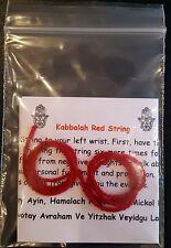 "SET of 2 Kabbalah Red String Bracelet 10"" Lucky Charm Evil Eye Protection Israel"