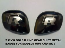 VW Golf R Line Badge Set for Gear shift knob Capot Latéral bordure métallique pour MK6/MK7