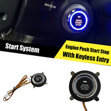 Car Ignition Switch Engine Start Push Button Keyless Entry Starter Kit