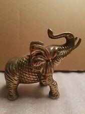 "Vintage 5"" Brass Elephant Figurine."