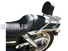 Beifahrer Sissy Bar mit Gepäckträger Chrom für Harley Fat Bob 1585 ccm Typ FXDF