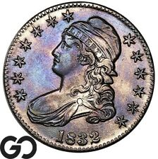 1832 Capped Bust Half Dollar, Subtle Violet Hues, Choice Uncirculated++