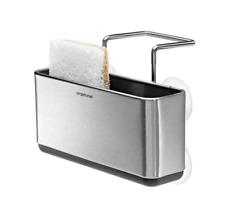 Slim Sink Caddy Home Kitchen Soap Sponge Storage Holder Brushed Stainless Steel